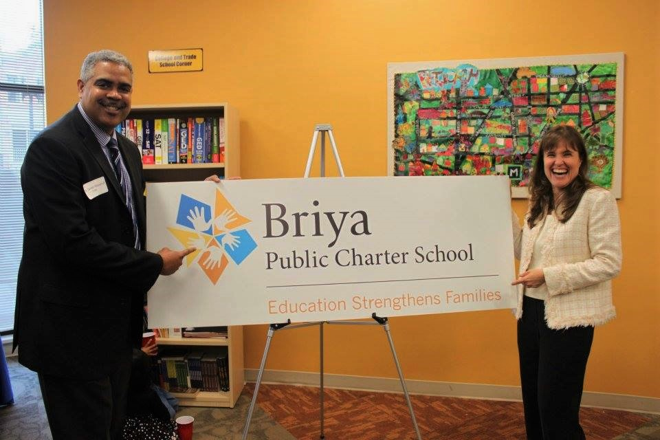 School director and charter board president revealing new Briya name