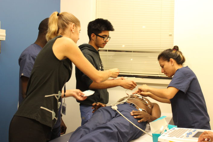 Medical Assistant students training