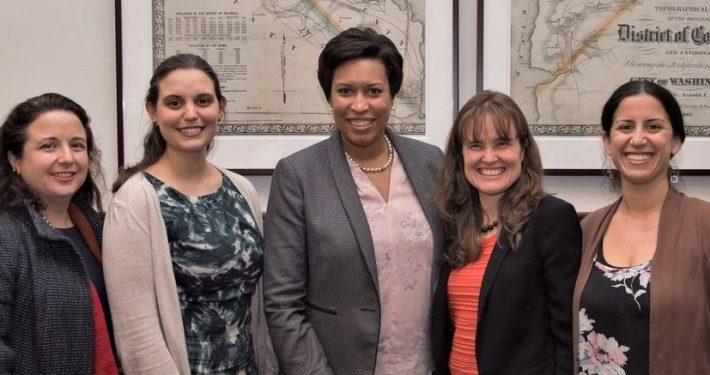 Mayor Bowser with Briya staff