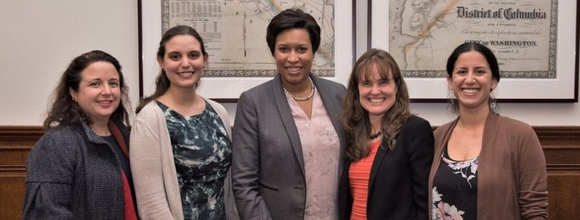 Mayor Bowser with Briya staff